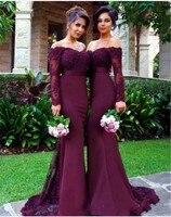 Customized Wine bridesmaid dress long 2019 mint green bridesmaid dresses Trumpet abito lungo cerimonia donna 2 20W