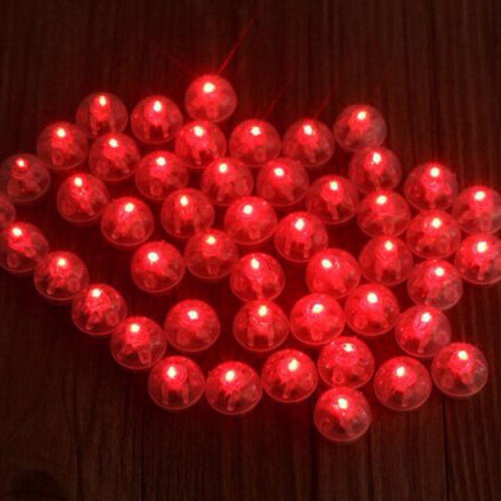 100 Pcs lot Round Ball Led Balloon Lights Mini Flash Lamps for Lantern Christmas Wedding Party Decoration White Yellow Red in Holiday Lighting from Lights Lighting
