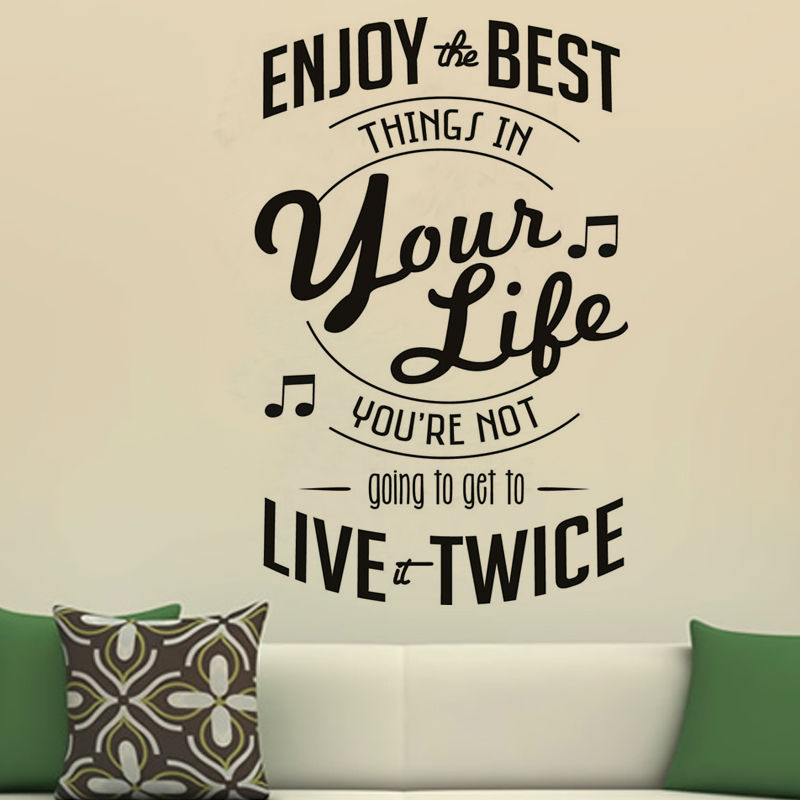 Dctop Enjoy The Best Things In Your Life Pvc Wall Sticker Removable