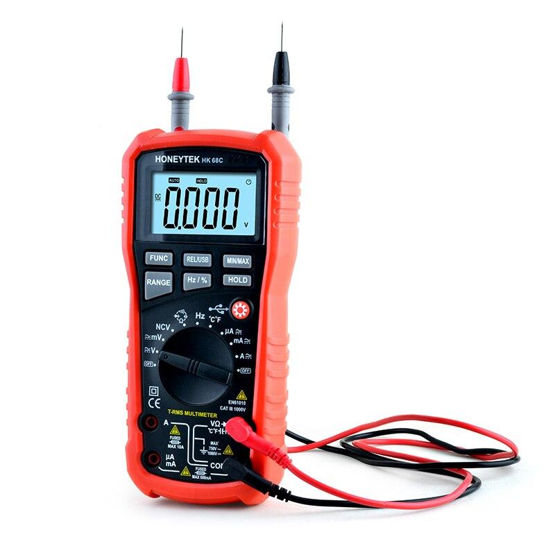 HK68C safety standard CTA 1000V true RMS 400 Multimeter USB Interface for PC Communications digital meter