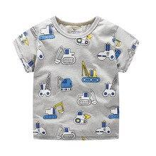 Children Boys T Shirts car printing Garments cotton Cartoon Summer Baby Kids Girls Short sleeve Tops Tee Boys Clothes 2019 New