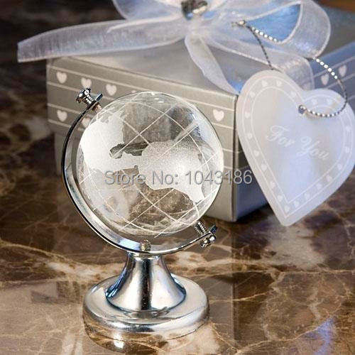 free shipping baby shower favor gift and giveaways for guest table top crystal globe baby shower
