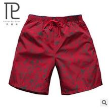 Новый летний Для Мужчин's Шорты мужской красный с принтом быстрый сухой пятый Шорты Для мужчин Приморский короткие свободные пляжные шорты Для мужчин Пляжные шорты # A3
