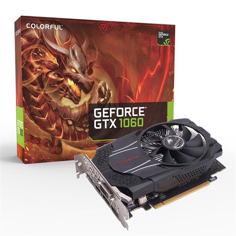 Colorful GTX1060 Mini OC 3G GDDR5 192Bit PCI Express Game Video Card Graphics Card DE15 Drop