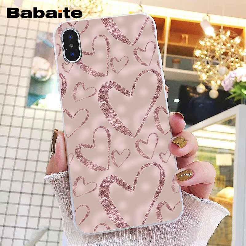 Babaite Vàng Hoa Hồng Trái Tim Ốp Lưng Điện Thoại Iphone 11 Pro 11Pro Max 8 7 6 6S 6S Plus X XS max 5 5S SE XR