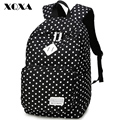 XQXA Classic Dot Printing Canvas Women Backpack Casual Daypack Bag for Teenage Girls Mochila Escolar Femenina Cute Rucksack