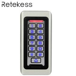 RETEKESS Rfid Porta di Accesso Sistema di Controllo IP68 Impermeabile In Metallo Tastiera Di Prossimità Carta di Controllo di Accesso Autonomo Con 2000 Utenti