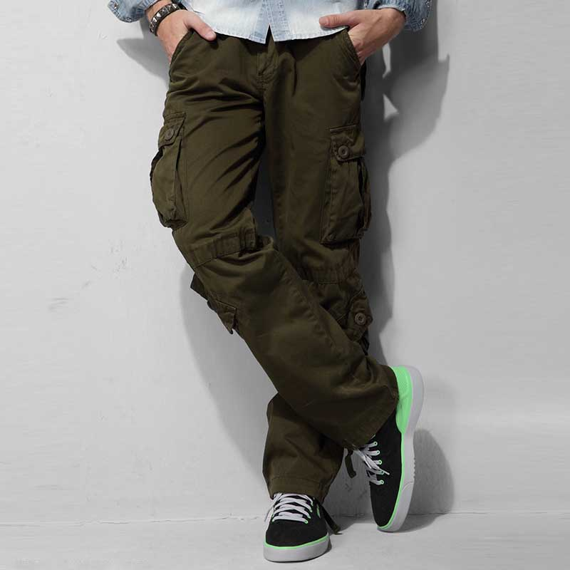 Men and Women Cargo Pants 8 Pocket Cotton Hip Hop Trousers Loose Baggy Military Army Tactical Pants Wide Leg Joggers Plus Size in Pants amp Capris from Women 39 s Clothing