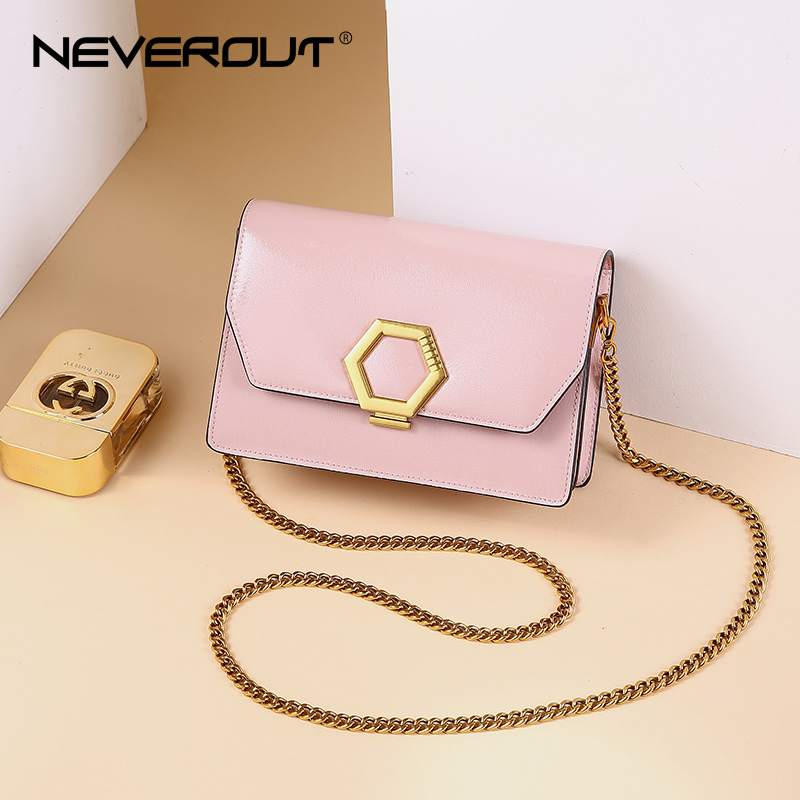 NEVEROUT Leather Crossbody Handbag Sac A Main Designer Women s Flap Bag Female Chain Strap Luxury