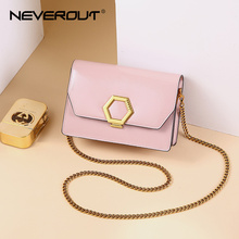 NEVEROUT Leather Crossbody Handbag Sac A Main Designer Women's Flap Bag Female Chain Strap Luxury Fashion Shoulder Bag Handbag womens crossbody bag small flap pu leather v o a designer lady shoulder bag female luxury handbag sacs main femme 2019 bandolera