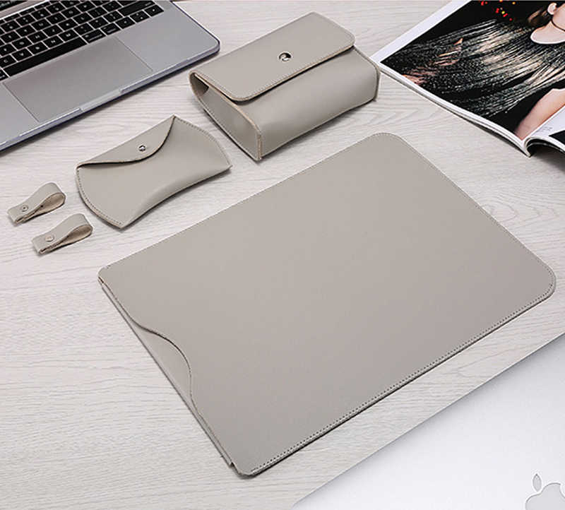 PU skórzana torba na laptopa do Macbook Air 13 Case 11 12 15 Touch Bar Notebook do Xiaomi Mi 13.3 15.6 Surface Pro 4 5 6 okładka