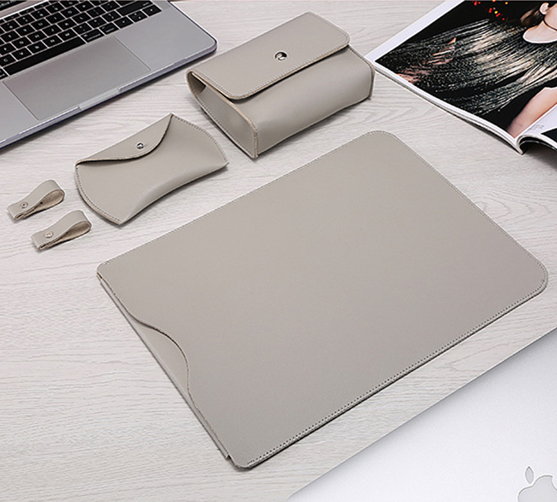 PU Leather Laptop Sleeve Bag For Macbook Air 13 Case 11 12 15 Touch Bar Notebook For Xiaomi Mi 13.3 15.6 Surface Pro 4 5 6 Cover