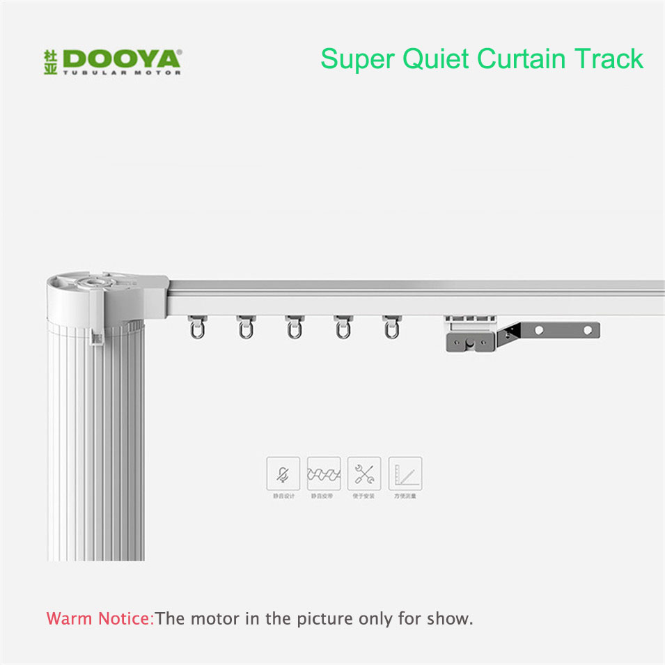 Original Dooya High Quality Customized Electric Curtain Track for Remote Control Electrical Curtain Motor Smart Home Automation 2018 hot sale original dooya home automation electric curtain motor dt52e 45w with remote control