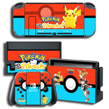 Protector Cover Decal Vinyl Skin Sticker for Nintendo Switch NS Console+Controller+Stand Holder Color sticker