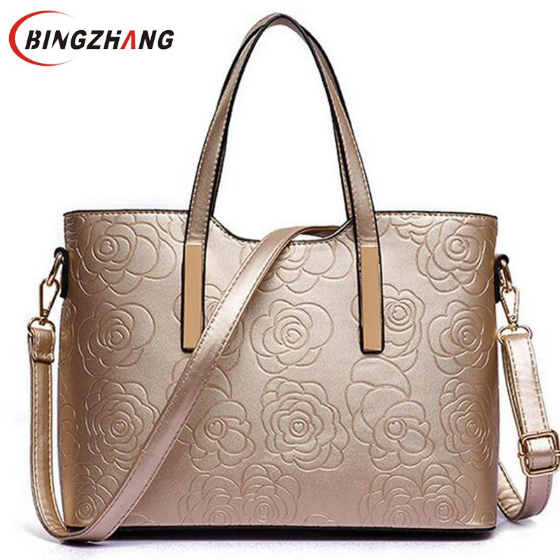 New PU Leather Women Shoulder Bags 2017 Luxury Women Handbags High Quality Brand Big Ladies HandBags Spanish Brand Bag L4-2321 2016 new hot luxury plaid women bags handbags high quality leather bags for women shoulder bag famous brand chain shell bag
