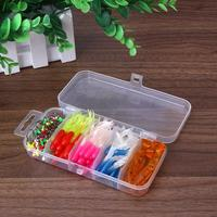100pcs Rubber Squid Skirt Fishing Lure Tackle Soft Lures Octopus Bait Skirts 50pcs Lead Hook with Baits Box