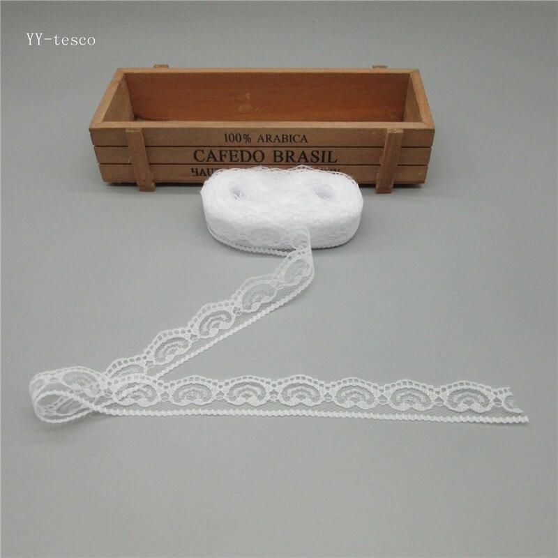10 метров Высокое качество красивой лентой кружева лента 22 мм кружевной отделкой DIY вышитые для швейных украшения Африканский белый кружевной ткани