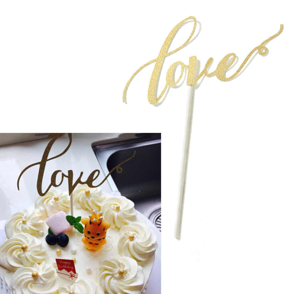 Wedding Cake Topper Personalized Wedding Cake Topper Paperboard Glitter Wedding Party Decoration Baby Shower Custom
