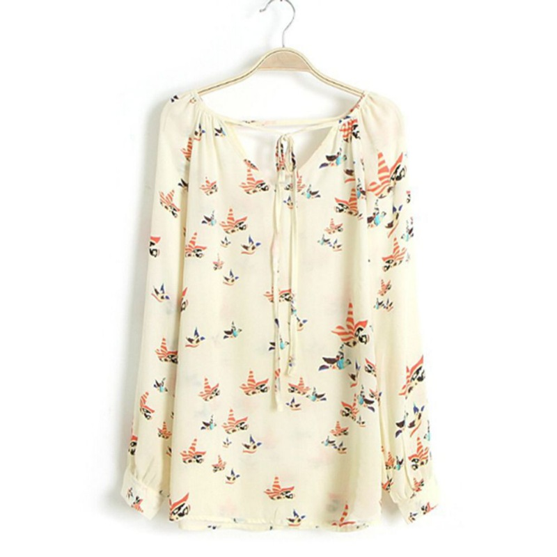 font b Women b font Spring Sweet Elegance Fashion Beige Chiffon font b Floral b