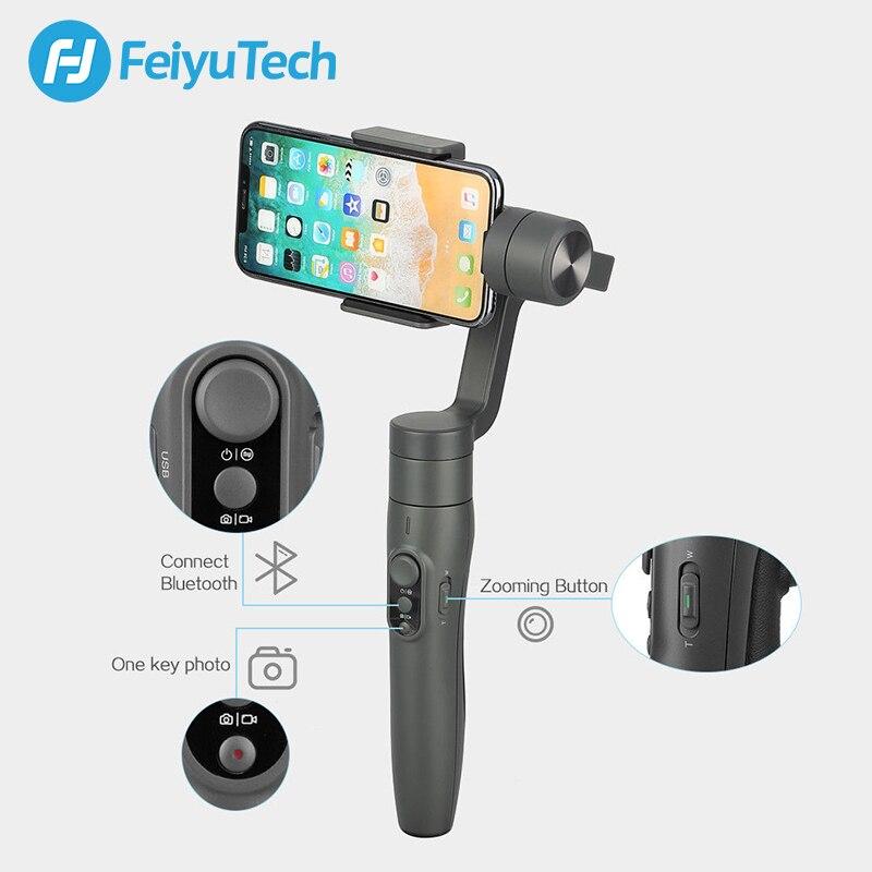 Image 3 - FeiyuTech Feiyu Vimble 2 Портативный смартфон карданный 3 осевой шарнирный стабилизатор видео для устройства с 183 мм полюс для iPhone X 8 XIAOMI samsung s8-in Ручные стабилизаторы from Бытовая электроника