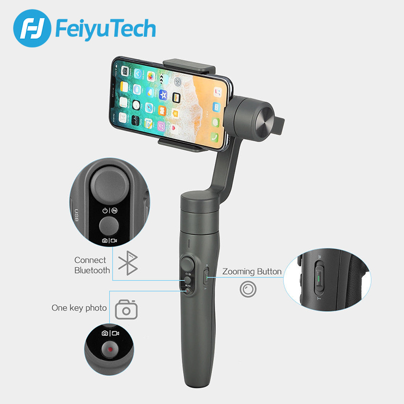 Image 3 - FeiyuTech Feiyu Vimble 2 Handheld Smartphone Gimbal 3 Axis Video Stabilizer with 183mm Pole for iPhone X 8 XIAOMI Samsung s8-in Handheld Gimbals from Consumer Electronics