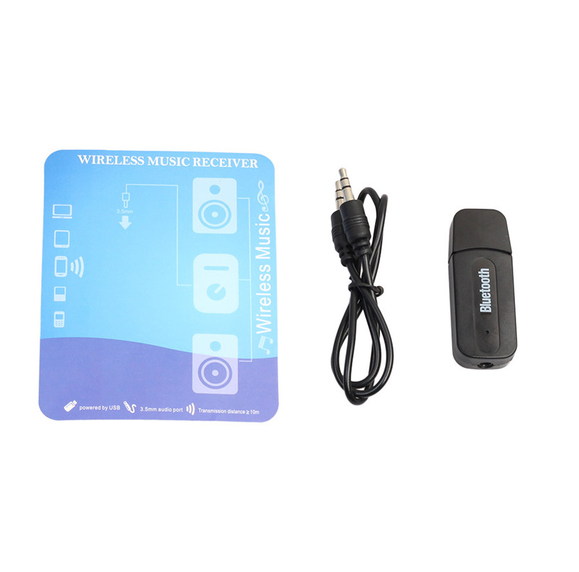 5V 3.5mm Wireless Bluetooth 2.1 + EDR USB AUX Audio Music Receiver Adapter Bluetooth Car Kit For cell phone
