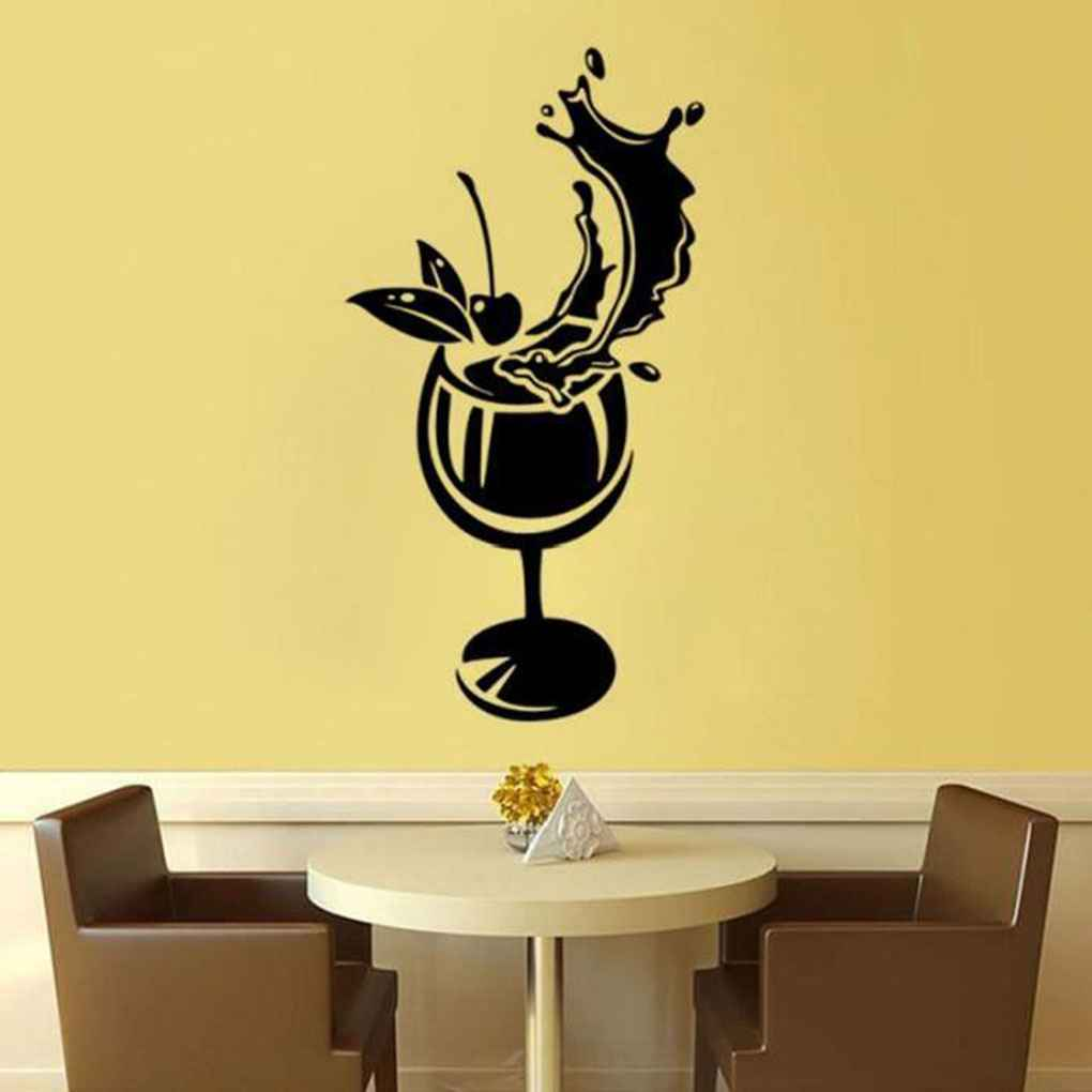Wine Bottle Vinyl Butterfly Fairy Dance Living Room Bedroom Wall ...