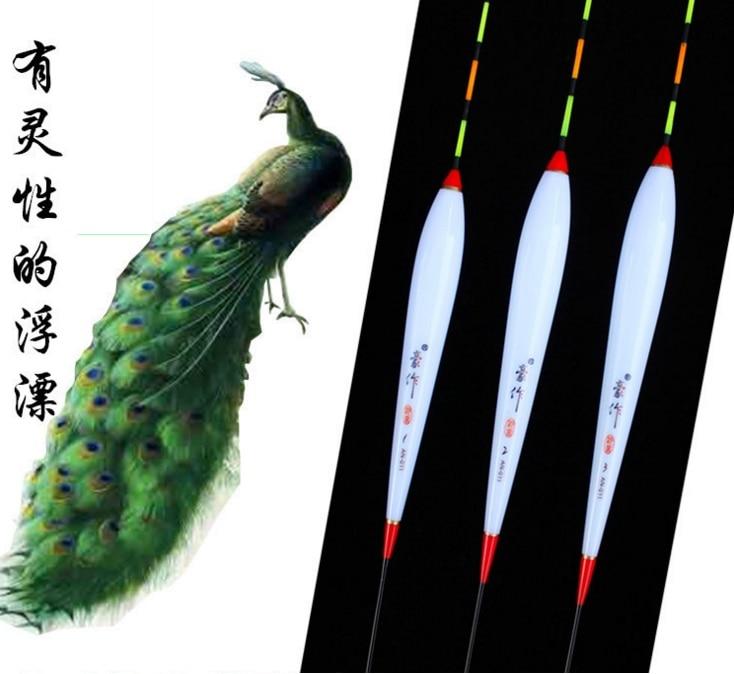cauda longa pena de pavao flutuador para a pesca de peixe inteligente especialmente em agua fria