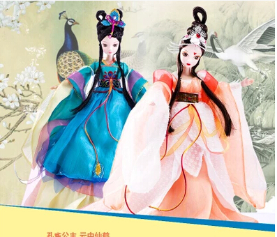 D0620 In box Best children girl gift 30cm Kurhn Chinese Doll Chinese myth Gift Traditional toy Peacock Princess 1pcs d0372 best girl gift 50cm kurhn princess doll with large wedding dress gift luxury dress set handemade romantic bride 06