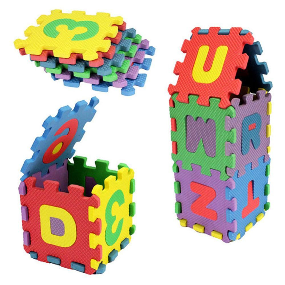 Baby Kids Alphanumeric Educational Puzzle Blocks Toys Infant Child Fashion Funny LearningToy Letters Numeral Soft Foam Mat