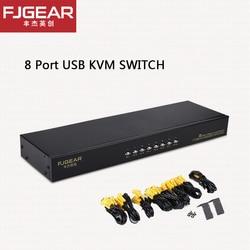 8 портов KVM переключатель VGA Manuale USB Keypress con проводной пульт дистанционного управления ПК Selettore на 8 PZ 1 монитор FJ-8UK