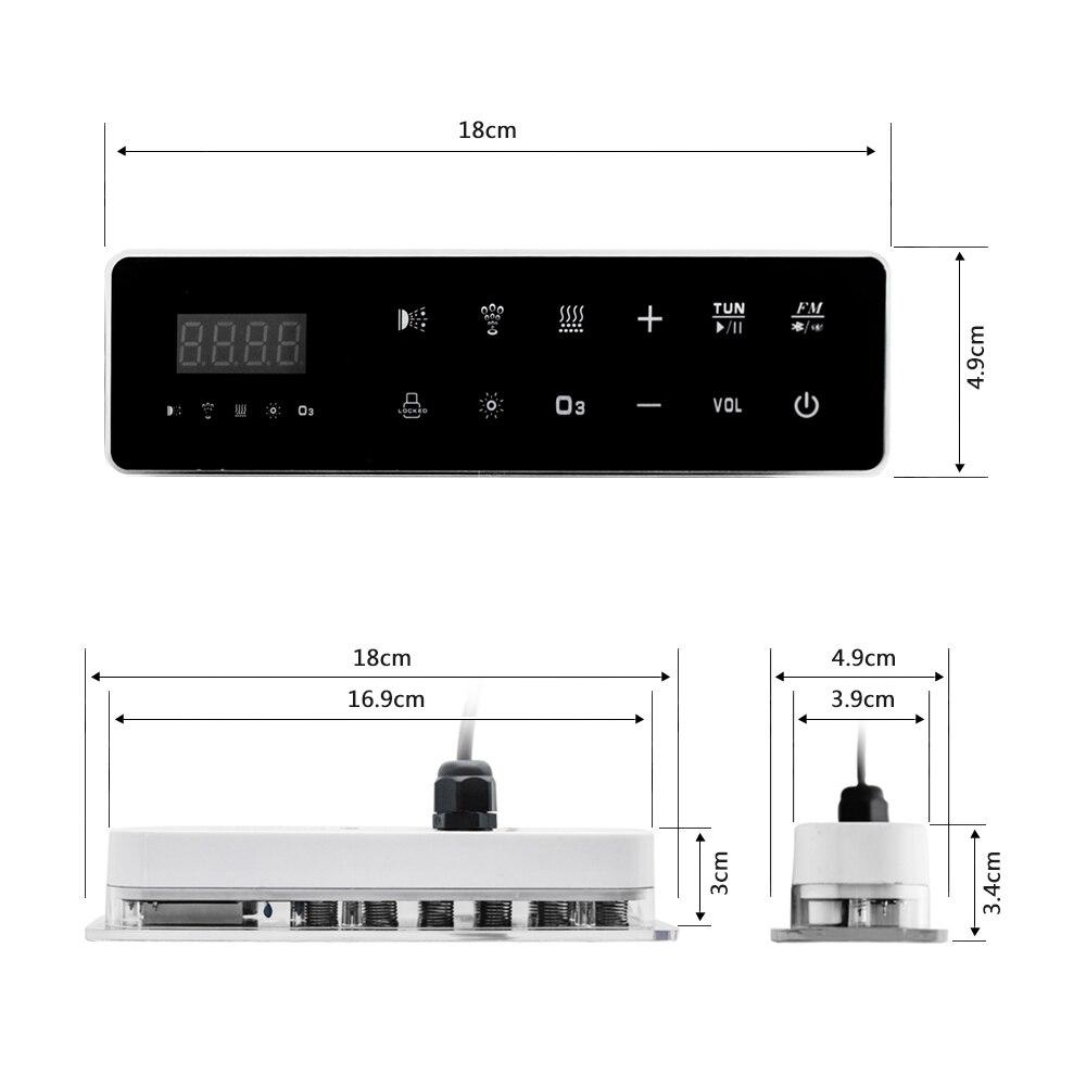 Painel de controle digital da c.a. 110 v/220 v com tela de toque lcd spa combinação bolha ar bomba água massagem banheira controlador kits-3