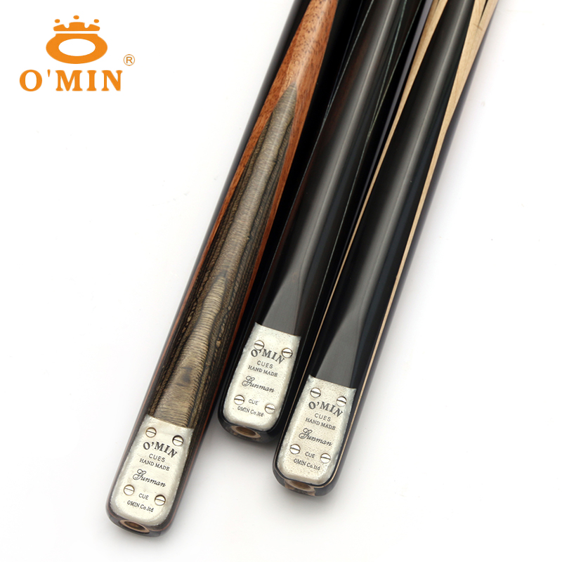 New Arrival O'MIN Handmade GUNMAN One Piece Snooker Cue Kit with Good Case with Telescopic Extension 9.8mm Tip Snooker Stick Cue