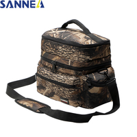 SANNE Camouflage Picnic Lunch Bag Thermal Cooler Bag For Food Storage Aluminum Foil Folding Insulation Lunch