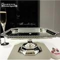 31*31 cm luxus platz metall kuchenständer decoratingcake dekorieren werkzeug silber tablett tablett dekorative obstschale DGP047|bowl mat|bowl glassbowl cleaner -