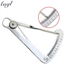 Stainless Steel Dental Gauge Caliper for Metal Dentist Lab Autoclavable Dental Ruler 0 to 10mm Surgical Ruler Measuring Tools