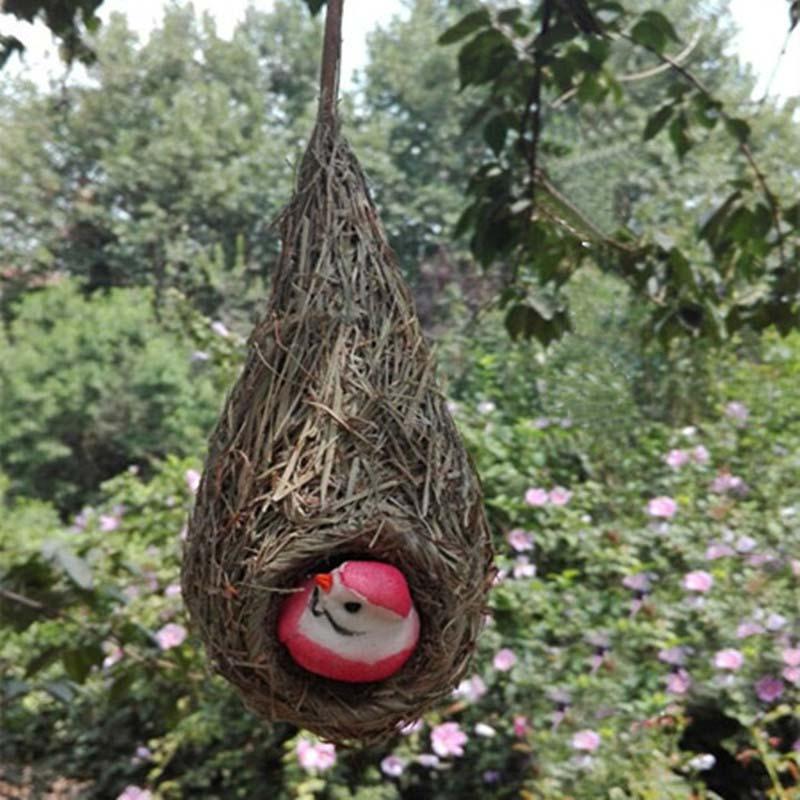 Nest Birdset3setslot Artificial Straw Hanging Birds Nest With