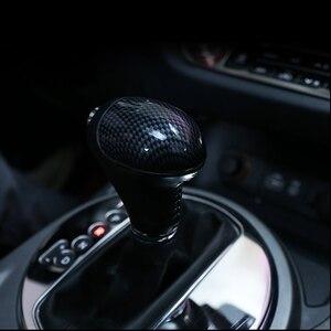 Image 3 - Perilla de palanca de cambios de fibra de carbono para coche pomo de palanca de cambios, funda para Kia Sportage 3 Cerato K3 Forte Sorento 2011 2012 2013 2014 2015 2016