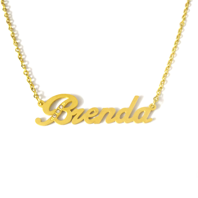 be594adcd FairLadyHood Brenda Custom Name Necklace Personalized Necklace Stainless  Steel Jewelry Customized Necklace