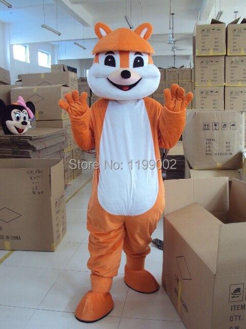 Vente chaude de haute qualité Halloween jaune écureuil dessin animé mascotte costume taille livraison gratuite