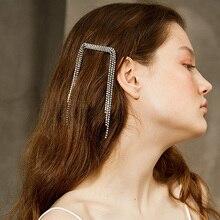 Wedding Hair Accessories Women Trendy Full Crystal Tassel Ha