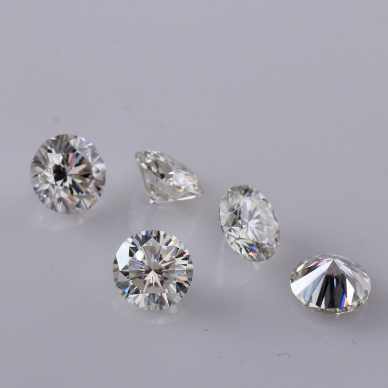 Top Quality EF Color Round Brilliant Cut 5mm 0.5ct Loose Moissanites stone