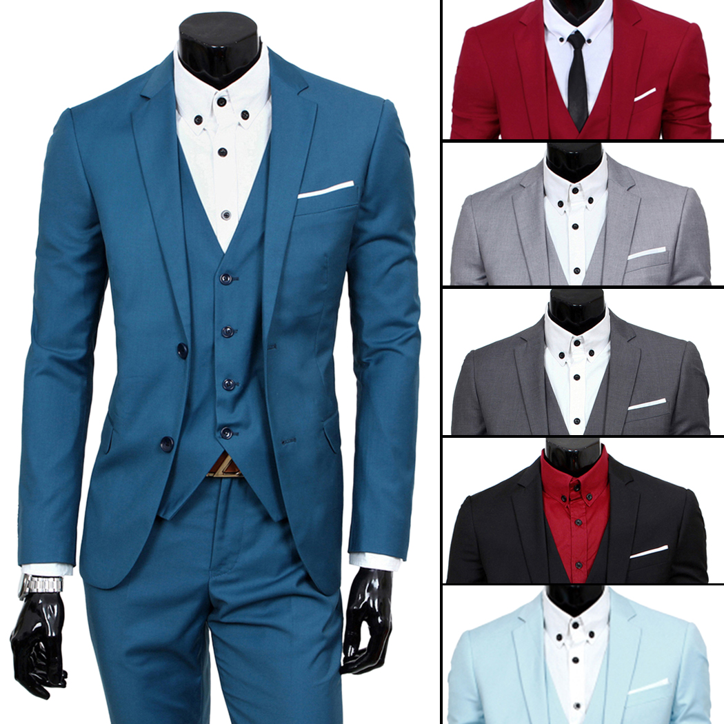 Mens Suits Blazers Pants Vest Classic Tuxedo High Quality Male ...