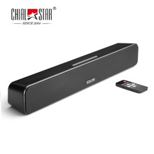 Mini Sound Bar 12W Black Wireless Bluetooth Speakers APE/FLAC SQ Music Soundbar for Outdoor Party Yoga PC Game Computer Indoor