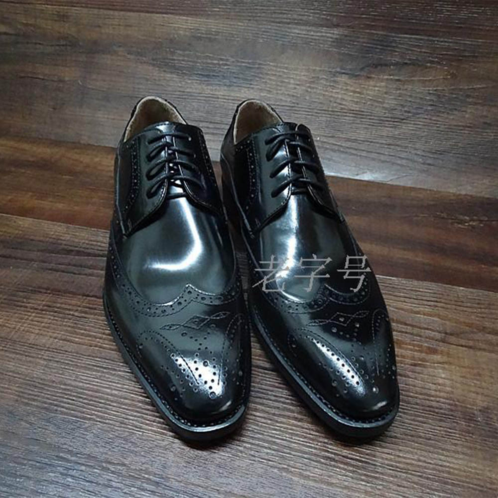 Sipriks Mens Black Shiny Leather Dress Brogue Shoes Italian Custom Goodyear Welted Vintage Boss Men Business Work Shoes European цена 2017