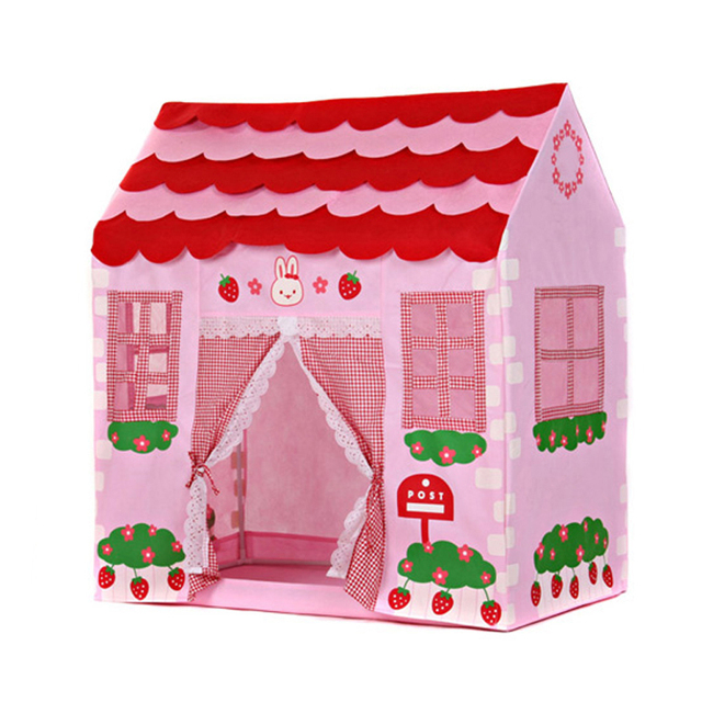 Kids Toy Tent Girls Princess Foldable Portable Strawberry Rabbit Tent Playhouse Castle Tipi Teepee Outdoor Indoor  sc 1 st  AliExpress.com & Kids Toy Tent Girls Princess Foldable Portable Strawberry Rabbit ...