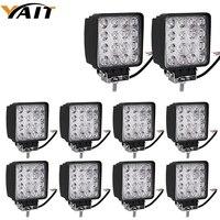10pcs Square 48w 4inch Led Work Light Off Road Spot Car Lights Driving Lights 10 32V