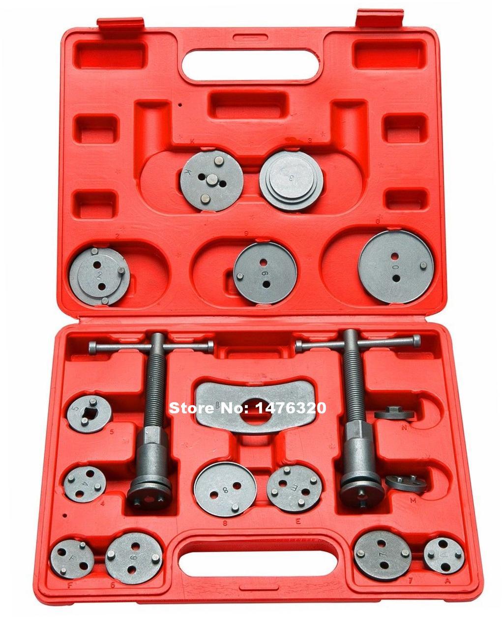 18PCS Automotive Universal Caliper Disc Brake Wind Back Piston Compressor Tool Set AT2143 цена
