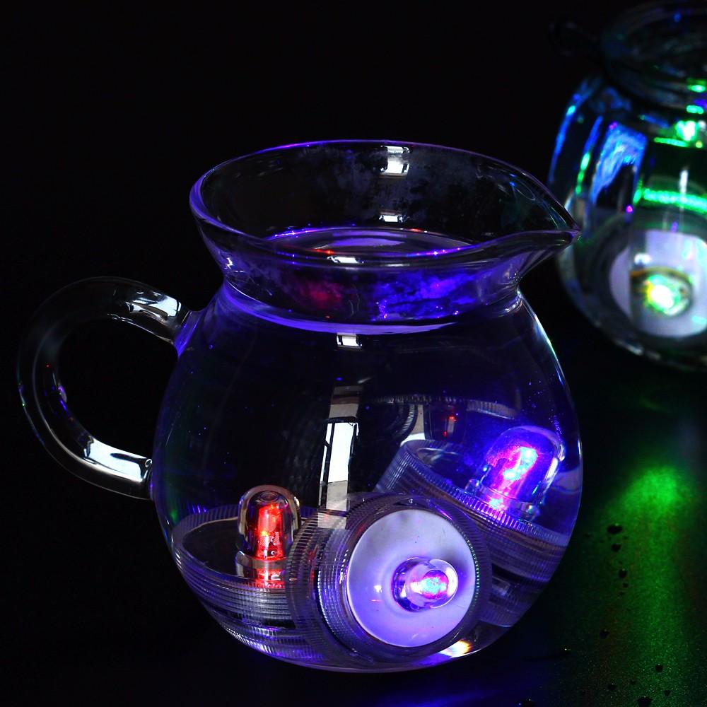 100 шт./лот светодиодные водонепроницаемые свечи por белый цвет чая светлый был база лампы рождественский вечер украшения
