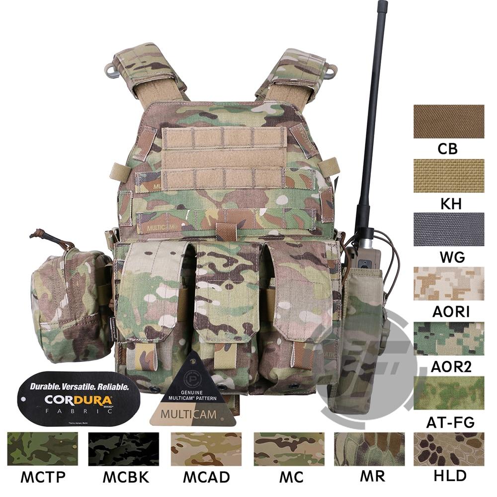 Emerson tactique modulaire MOLLE LBT-6094A porte-plaque EmersonGear LBT 6094A gilet de Combat w/M4 M16 5.56. 223 pochettes de Magazine